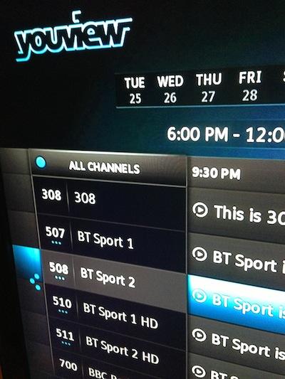 bt sport 1 listing
